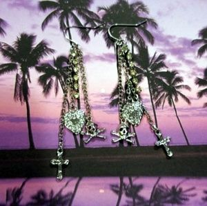 Jewelry - 2 for $20 🎁 Pirate Skull Charm Earrings☠